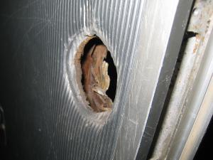 古いドア 内側