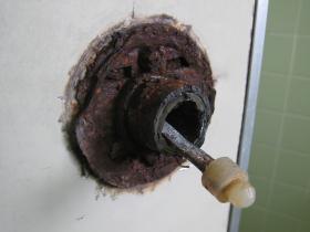 浴室錠 カット後