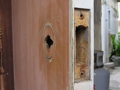 ドアの切り欠き