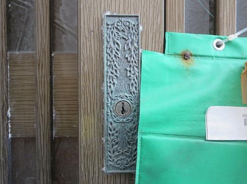 引違戸錠の鍵穴アップ
