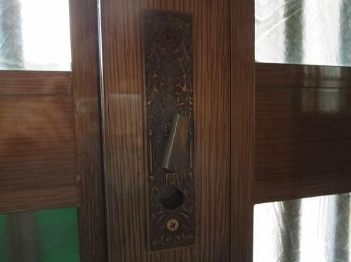 室内側の引違戸錠