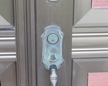 玄関ドア ゴール GOAL PH サムラッチ錠をレバー錠に交換 宜野湾市
