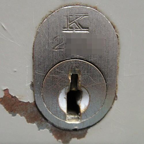 キャビネットの鍵穴入口