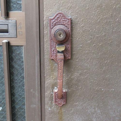 MIWA サムラッチ錠 室外側