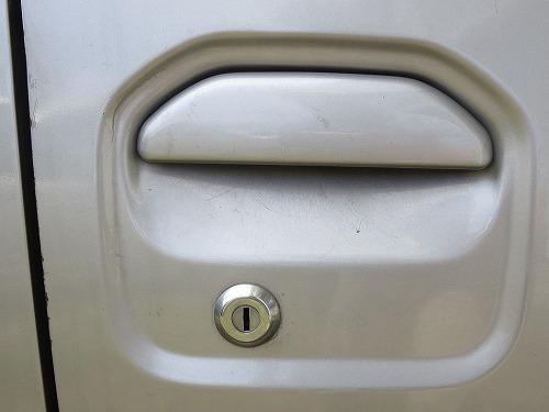 タウンボックス 運転席ドアの鍵穴