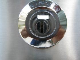 ホーム金庫 鍵穴