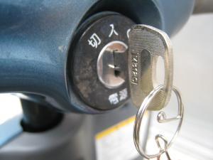 シニアカー 鍵完成