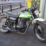カワサキ バイク 250TR メットホルダーの鍵作製