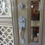 玄関ドア 本締錠の部品交換 WEST 中城村