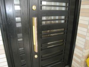 トステム 玄関ドア シリンダー交換(宜野湾市)