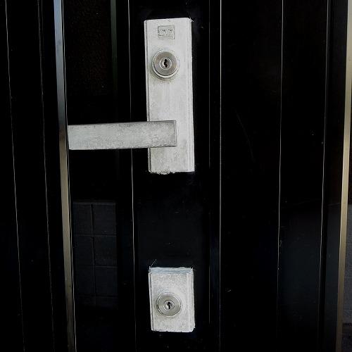 玄関ドアのカギ MIWA LE-14 TE-01 ディンプルシリンダーへ交換 鍵交換