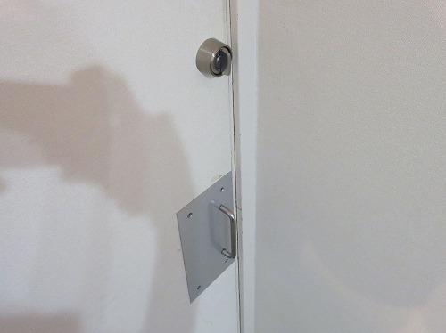 錠前取付後 室内側