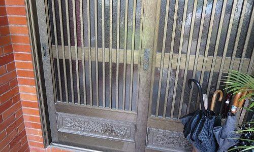 玄関 引戸 新日軽 スターマイト 翆峰 カギ交換 宜野湾市