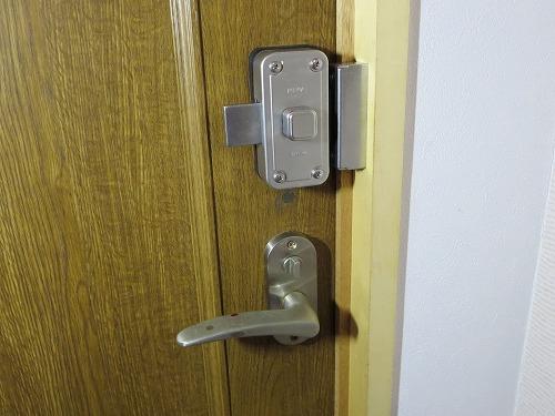 取付後 室内側 未施錠