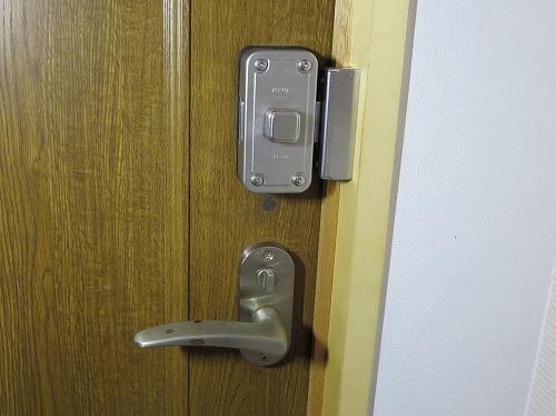 取付後 室内側 施錠