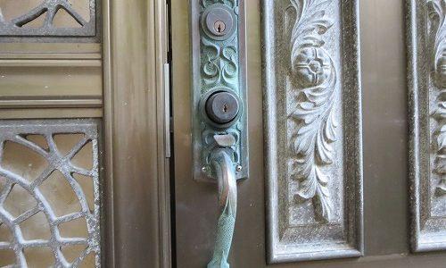 玄関ドアのカギ シリンダー交換 National ALPHA 宜野湾市