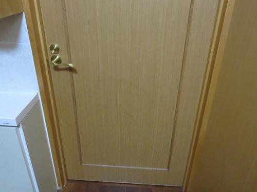 木製ドア レバー錠付