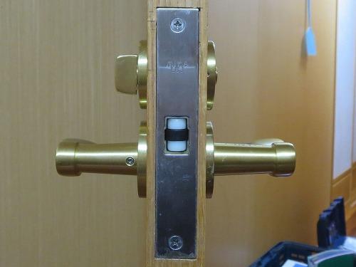 戸先側から見たレバー錠