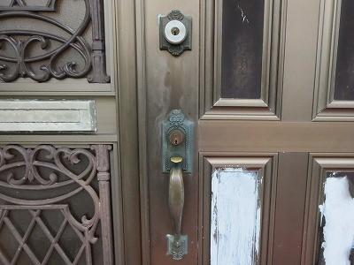 玄関ドア シリンダー交換 WEST 5500 宜野湾市
