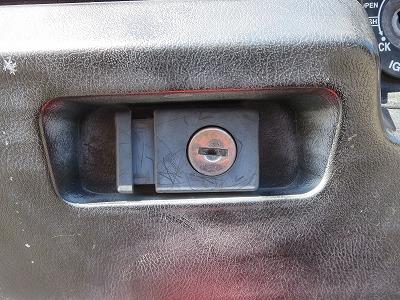 マジェスティの小物入れの鍵穴