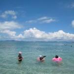 海中道路で海水浴(2011年8月21日)