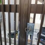 門扉の受け金具が取れたので取付 宜野湾市